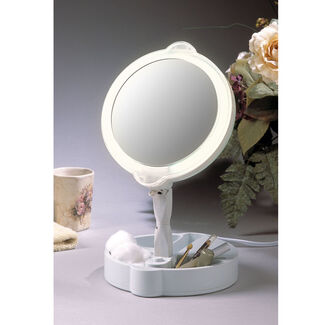 9X/1X Lighted Home and Travel Mirror